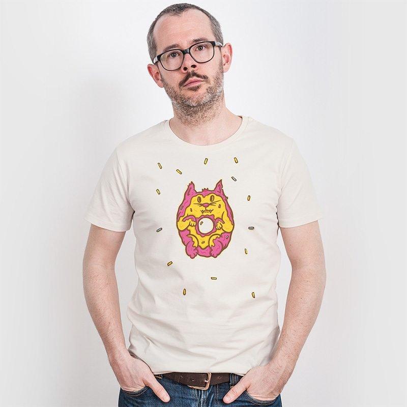 Pencake Donut Cat Mens Classic Cotton T-Shirt