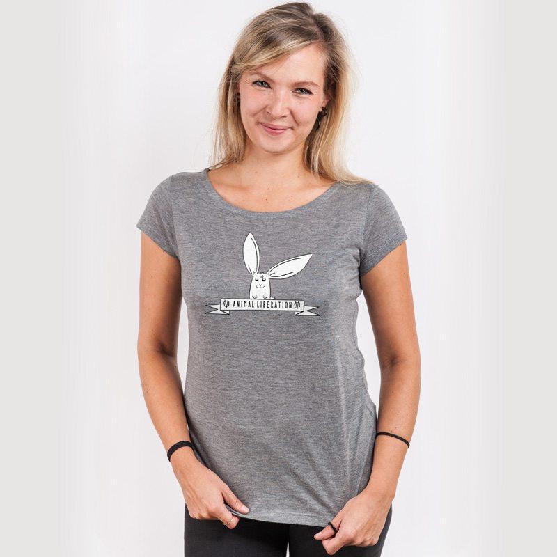 Rabbit Revolution Animal Liberation Ladies Organic Modal T-Shirt