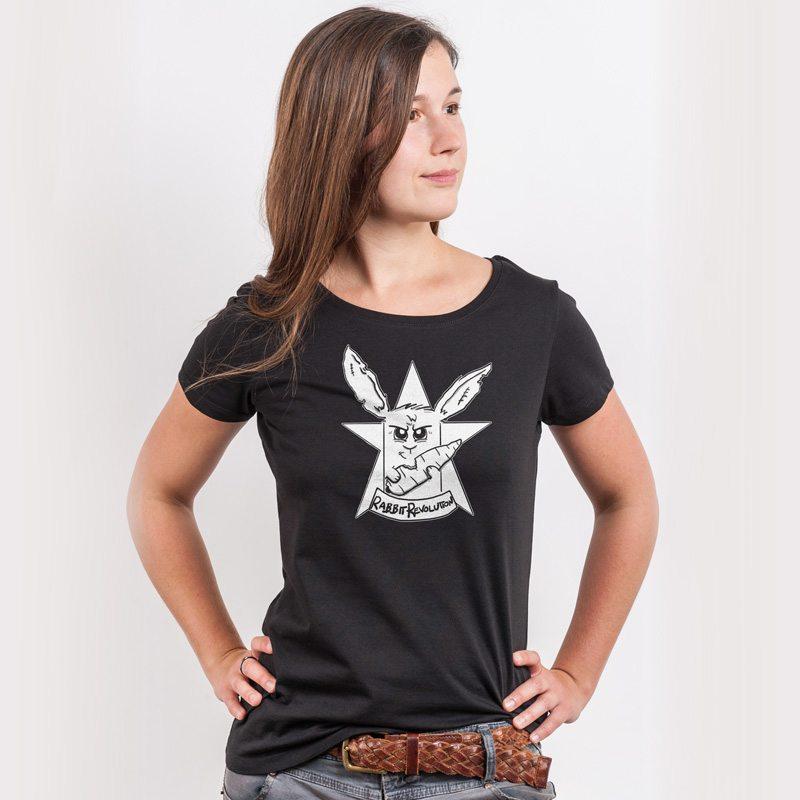 Rabbit Revolution Good Buns Revolt Ladies Organic Round Neck T-Shirt
