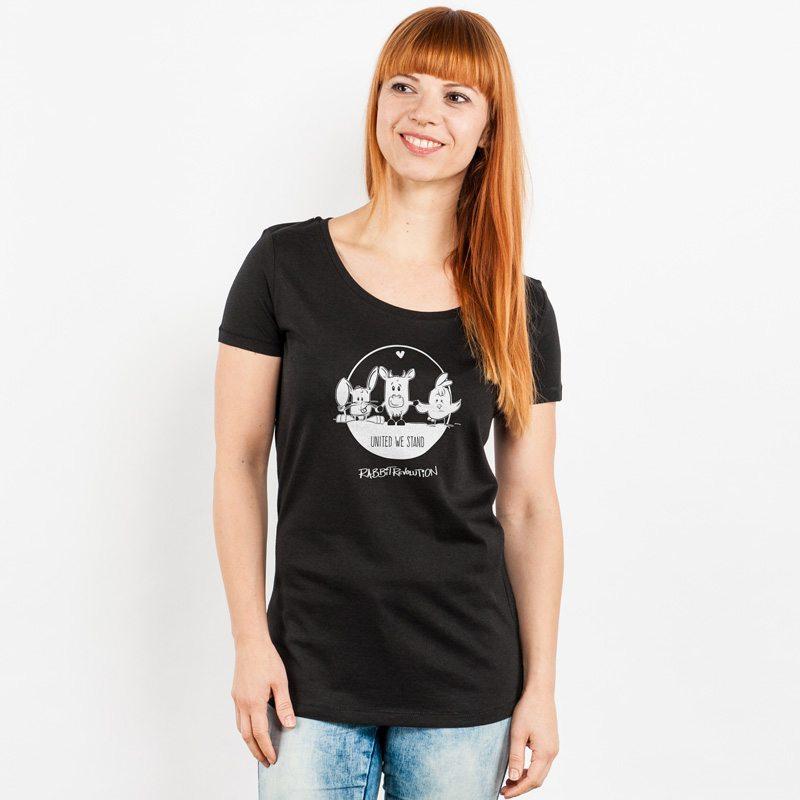 Rabbit Revolution United We Stand Ladies Lightweight Organic Cotton Modal T-Shirt
