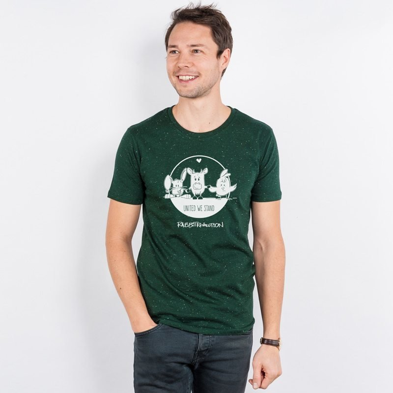 Rabbit Revolution United We Stand Mens Organic Cotton T-Shirt