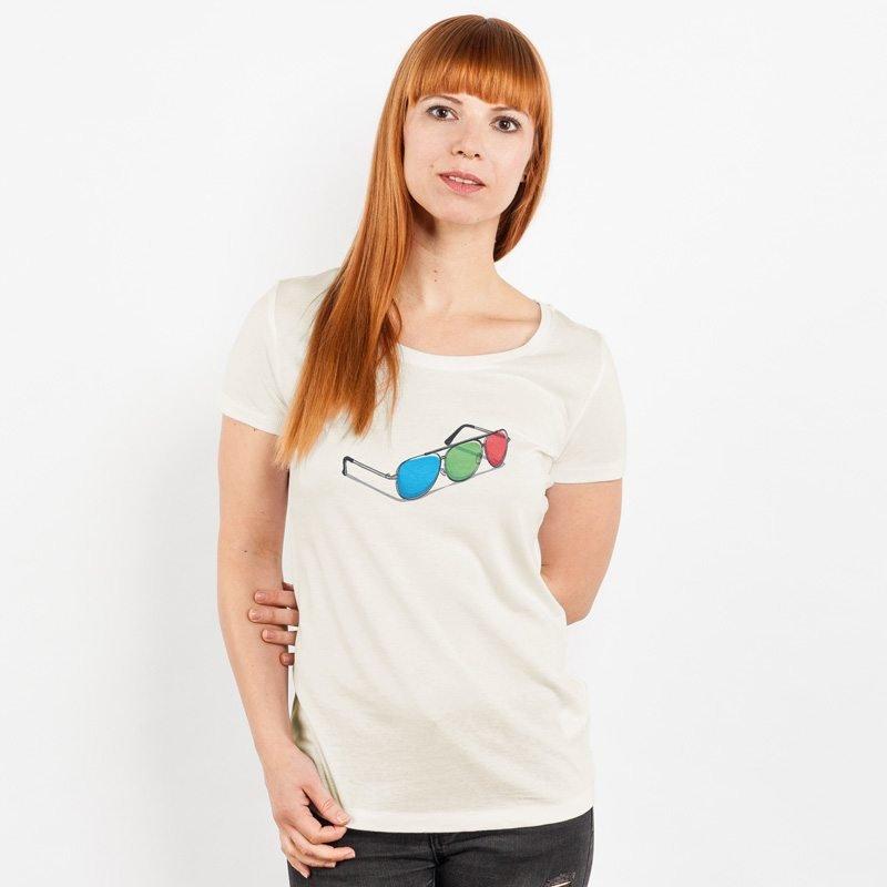 Robert Richter 3D-Glasses Ladies Organic Round Neck T-Shirt