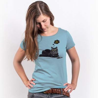 Robert Richter Chilling Cat Ladies Organic Round Neck T-Shirt