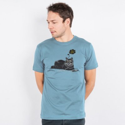 Robert Richter Chilling Cat Mens Organic Cotton T-Shirt