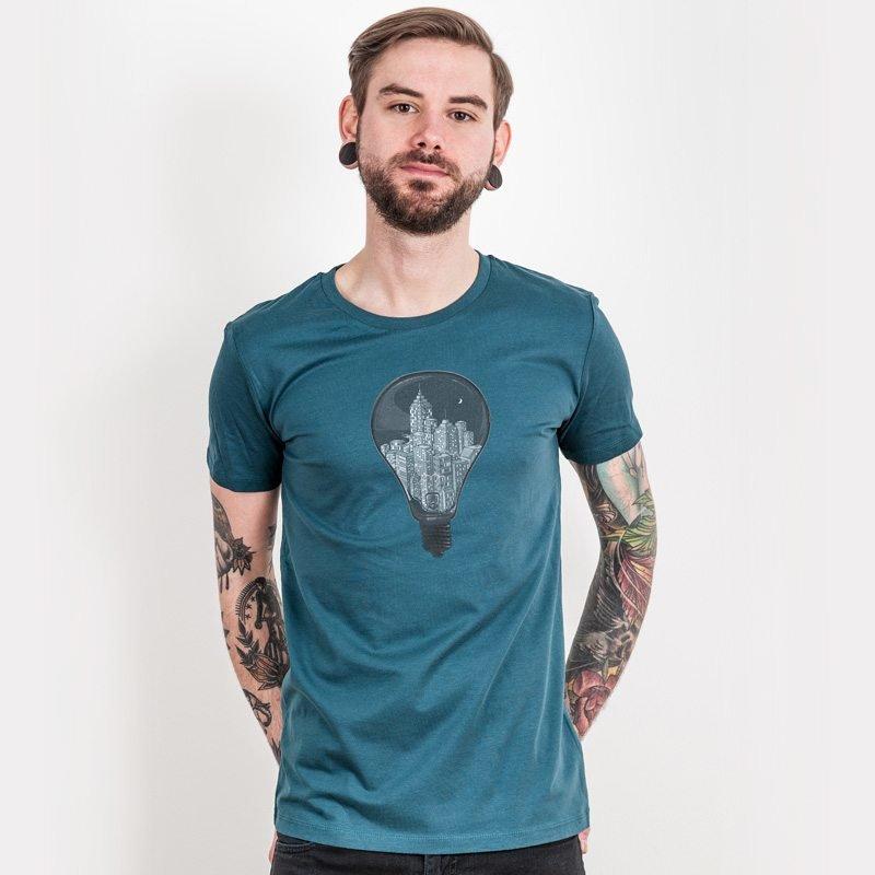 Robert Richter City Lights Mens Organic Cotton T-Shirt