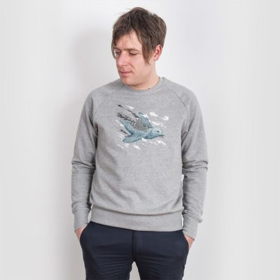 Robert Richter Clean the World Bird Mens Organic Cotton Sweatshirt