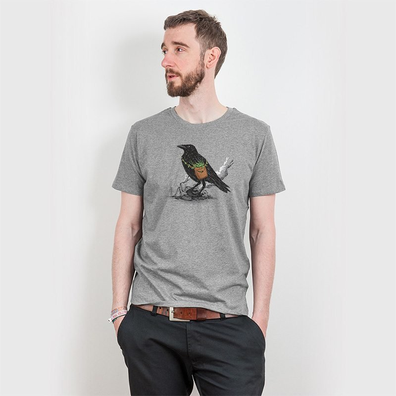 Robert Richter Clean the World Raven Mens Classic Cotton T-Shirt