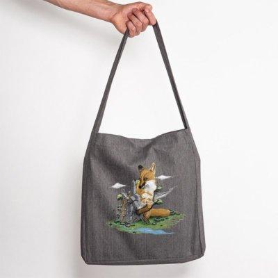 Robert Richter Clean the World Fox Recycled Organic Fashion Bag melange dark heather
