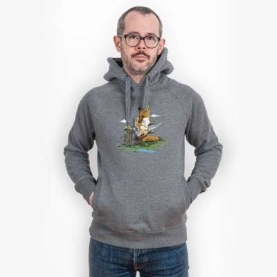 Robert Richter Clean the World Fox Mens Hooded Sweatshirt