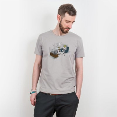 Robert Richter Computer Love Mens Classic Cotton T-Shirt