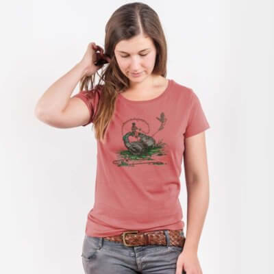 Robert Richter Flying Sounds Ladies Lightweight Organic Cotton T-Shirt