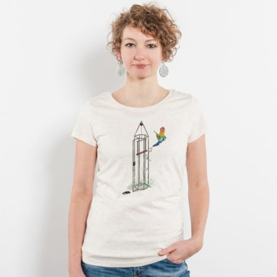 Robert Richter Freedom for All Ladies Organic Round Neck T-Shirt