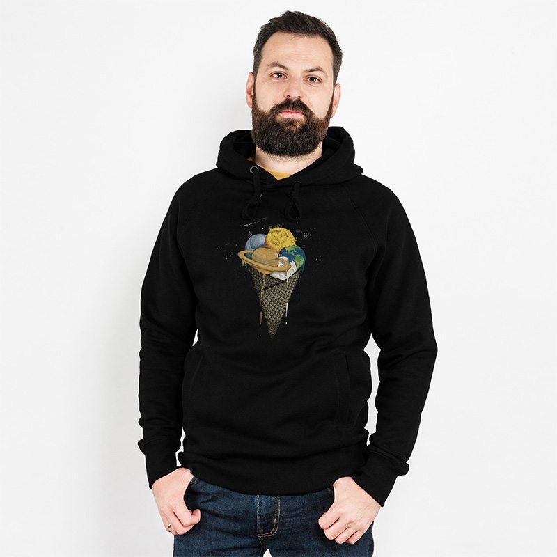 Robert Richter Galactic Ice Cream Mens Hooded Sweatshirt Ivo
