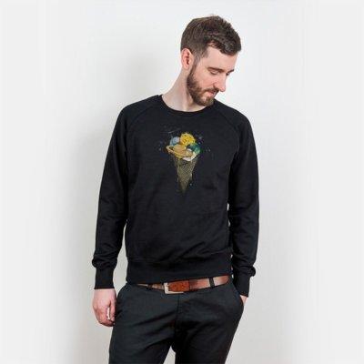 Robert Richter Galactic Ice Cream Mens Organic Cotton Sweatshirt