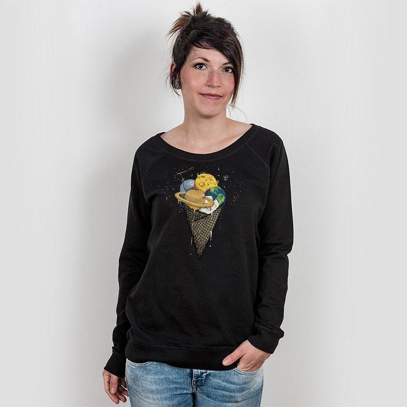 Robert Richter Galactic Ice Cream Ladies Organic Cotton Sweatshirt