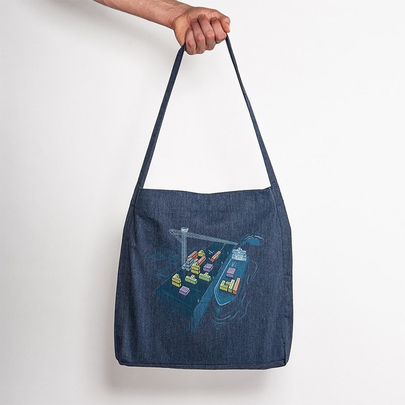 Robert Richter Game Port Recycled Organic Fashion Bag melange navy