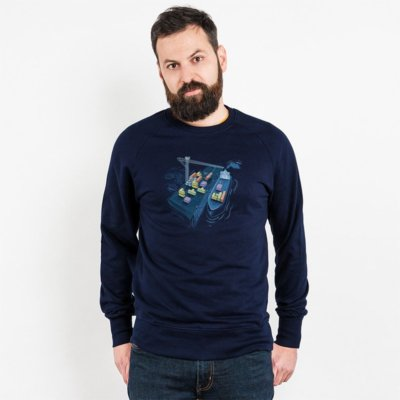 Robert Richter Game Port Mens Organic Cotton Sweatshirt