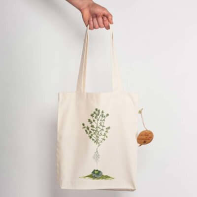 Robert Richter Green House Recycled Natural Shopping Bag