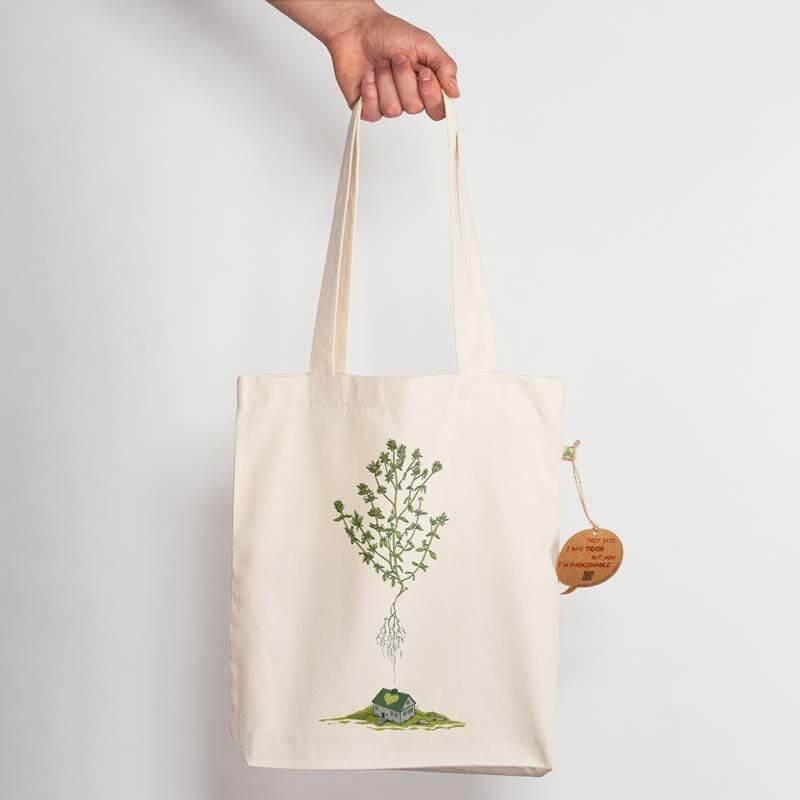Robert Richter Green House Recycled Natural Shopping Bag