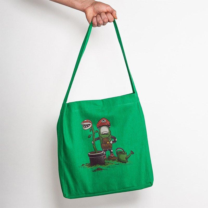 Robert Richter Green Thumb Recycled Organic Fashion Bag melange green