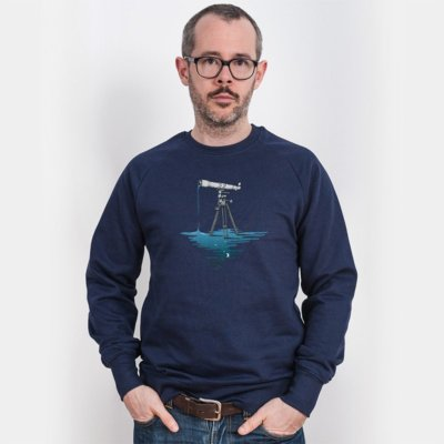Robert Richter Liquid Universe Mens Organic Cotton Sweatshirt