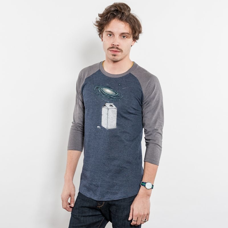 Robert Richter Milky Galaxy Recycled Organic Baseball T-Shirt
