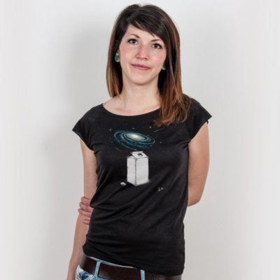 Robert Richter Milky Galaxy Ladies Organic Bamboo T-Shirt
