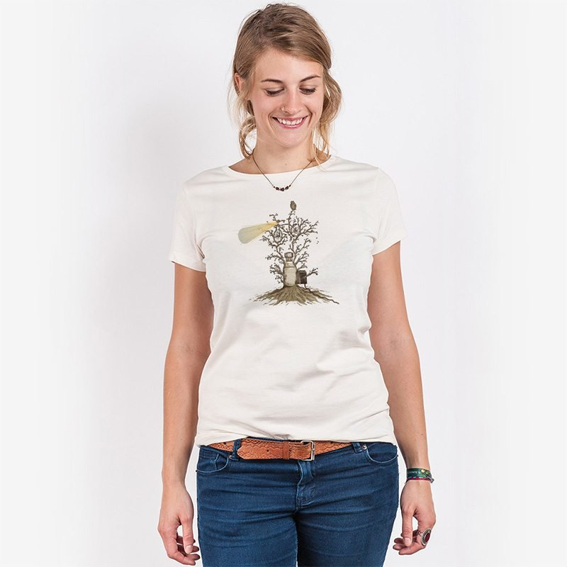 Robert Richter Natural Light Ladies Organic Round Neck T-Shirt