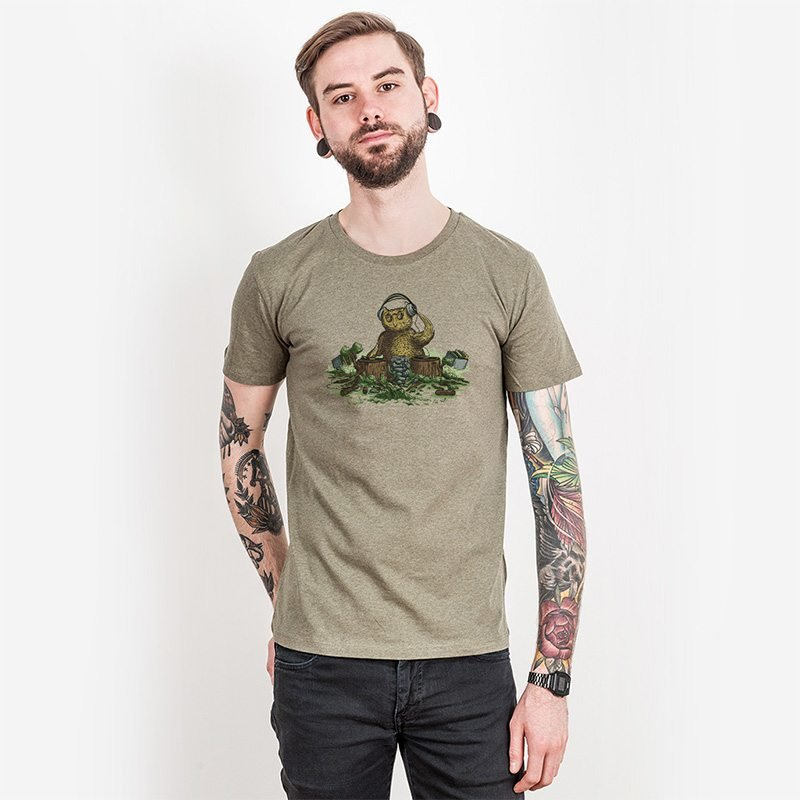 Robert Richter Natural Turntables Mens Organic Cotton T-Shirt