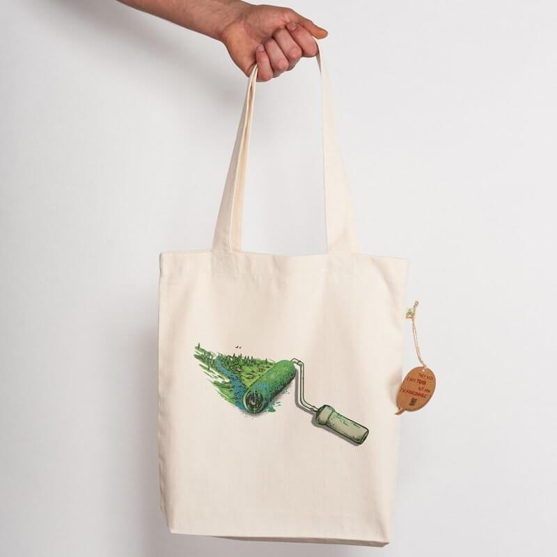 Robert Richter Nature Painter Recycled Natural Shopping Bag