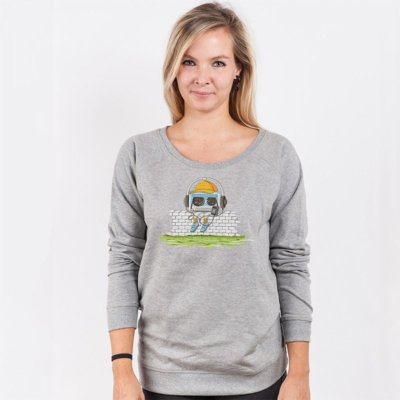 Robert Richter Oldschool Music Ladies Organic Cotton Sweatshirt
