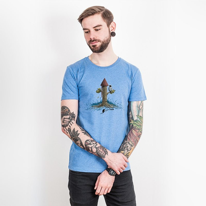 Robert Richter Rocket Tree Mens Organic Cotton T-Shirt