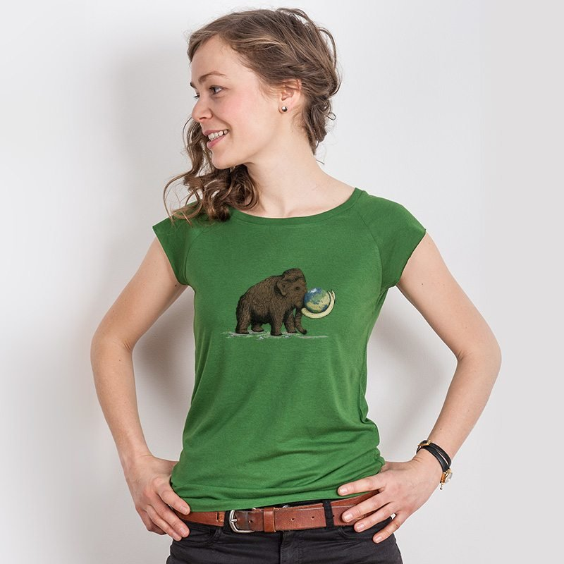 Robert Richter Save the Planet Mammoth Ladies Organic Bamboo T-Shirt