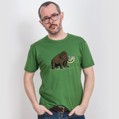 Robert Richter Save the Planet Mammoth Mens Organic Bamboo T-Shirt