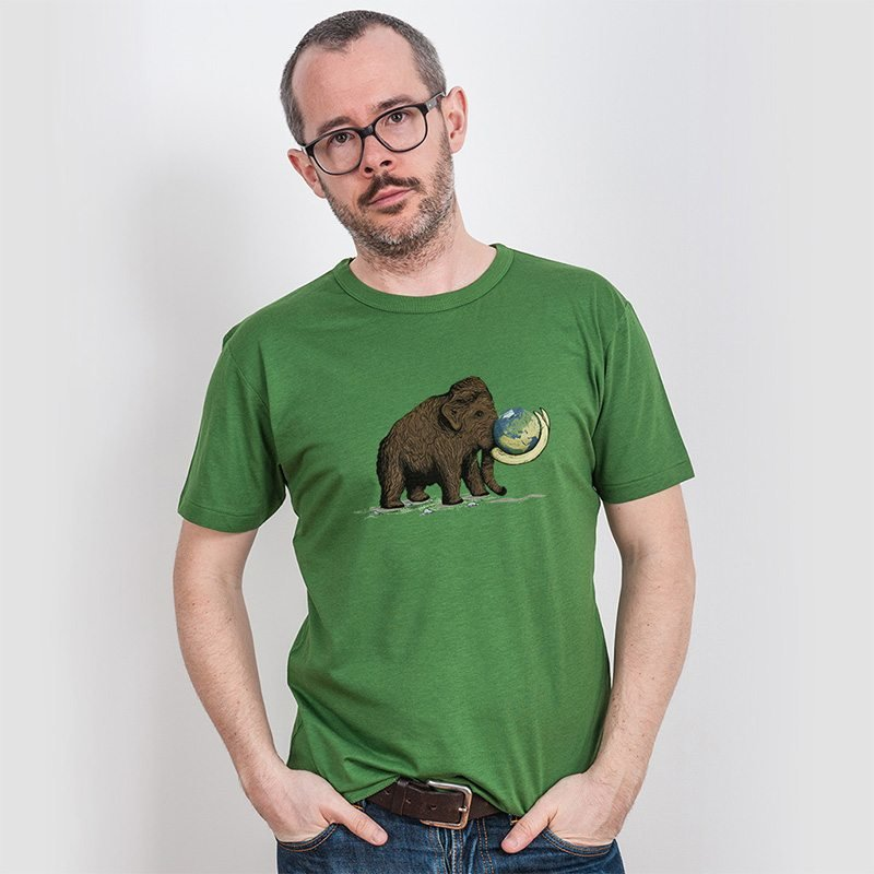 Robert Richter Save the Planet Mammoth Mens Organic Bamboo T-Shirt