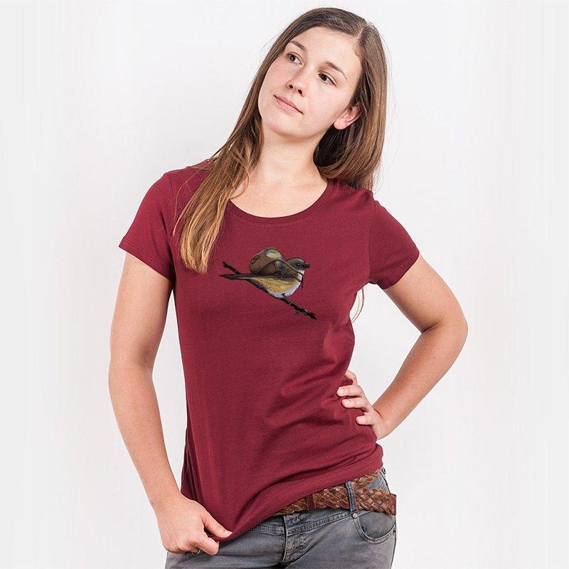 Robert Richter Save the Planet Bird Ladies Organic Round Neck T-Shirt