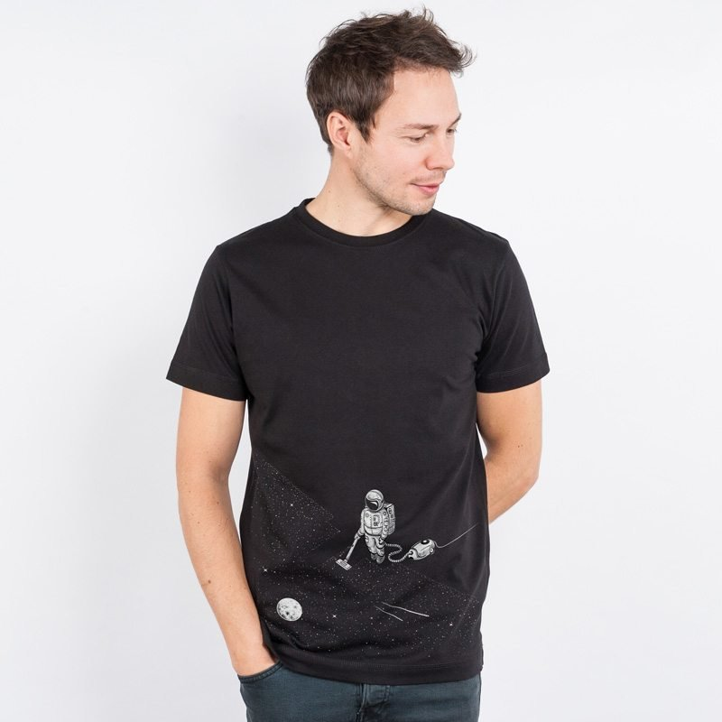Robert Richter Space Cleaner Mens Classic Cotton T-Shirt