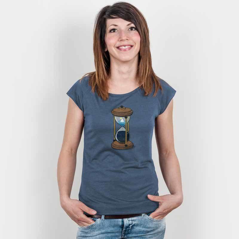 Robert Richter Time Ladies Organic Bamboo T-Shirt denim blue