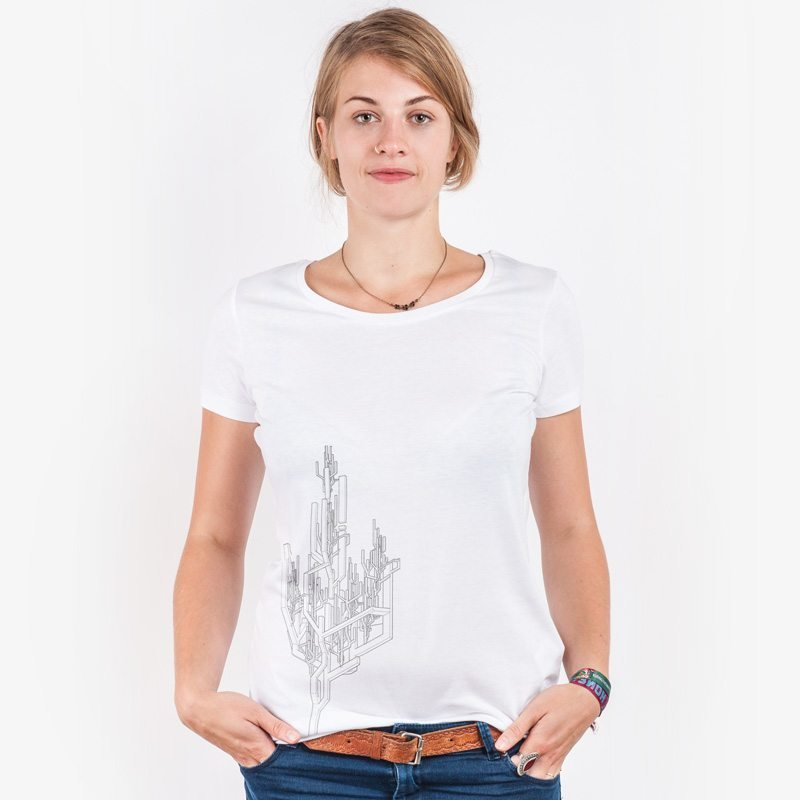 ruestungsschmie.de Baum Ladies Lightweight Organic Cotton Modal T-Shirt