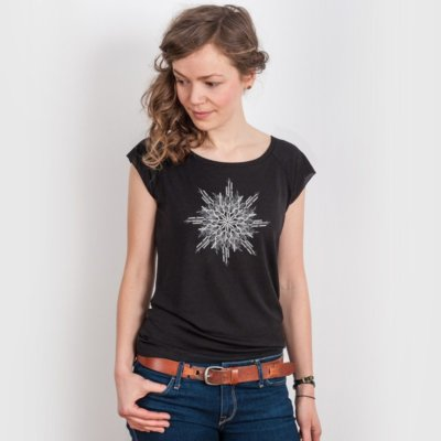 ruestungsschmie.de Snowflake Ladies Organic Bamboo T-Shirt