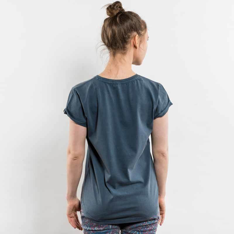 Earth Positive EP16 Ladies Low Carbon Organic Rolled Sleeve T-Shirt Back