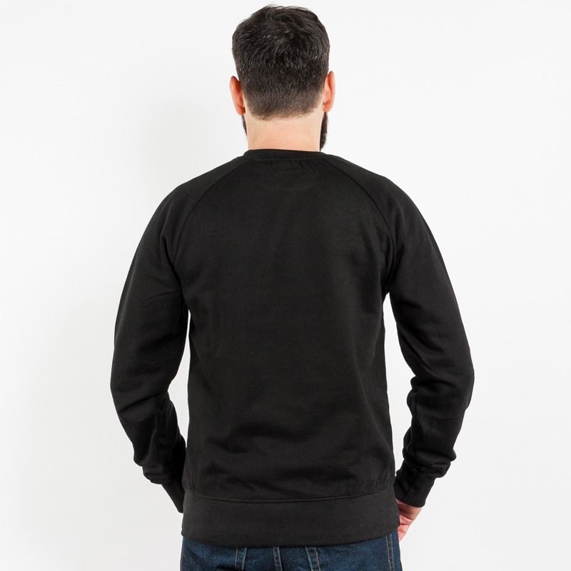 Earth Positive EP65 Mens Organic Cotton Sweatshirt - black - Rear View