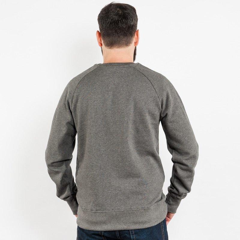 Earth Positive EP65 Mens Organic Cotton Sweatshirt - dark heather grey - Rear View
