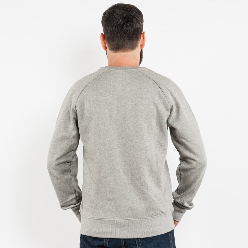 Earth Positive EP65 Mens Organic Cotton Sweatshirt - light heather grey - Rear View