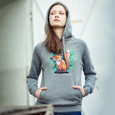 Julius Muschalek Jede Nacht auf der Jagd Ladies Hooded Sweatshirt Lisa-Marie