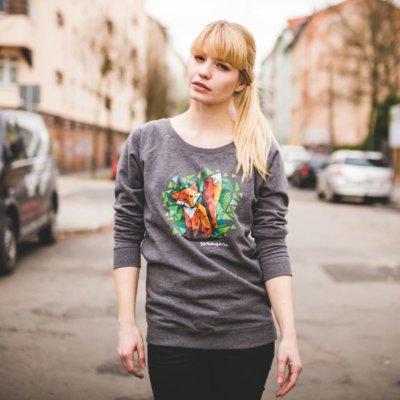 Julius Muschalek Jede Nacht auf der Jagd Ladies Organic Cotton Sweatshirt Judy
