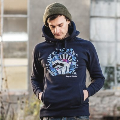 Julius Muschalek König der Stadtmitte Mens Hooded Sweatshirt Marco