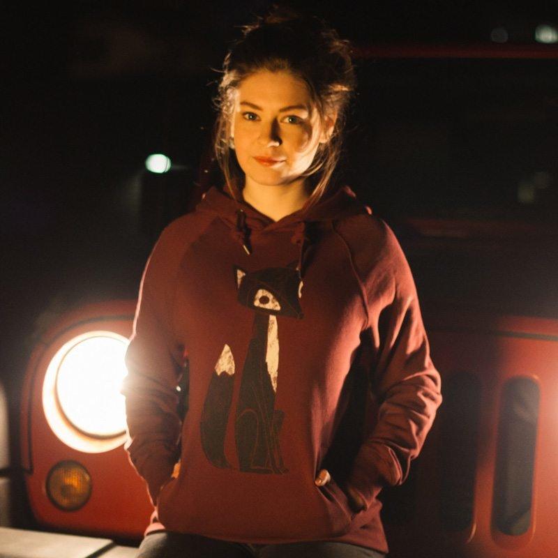 Keregan Lovely Fox Ladies Hooded Sweatshirt Katharina