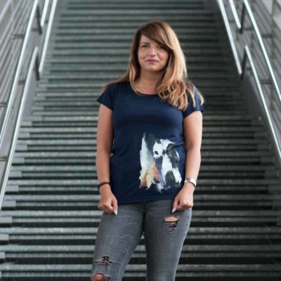 Life in Vanilla Panda & Fox Ladies Organic Modal T-Shirt Nancy Outdoor