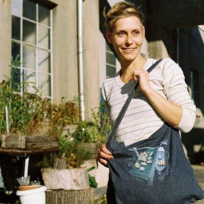 Robert Richter Game Port Recycled Organic Fashion Bag melange navy Claudi